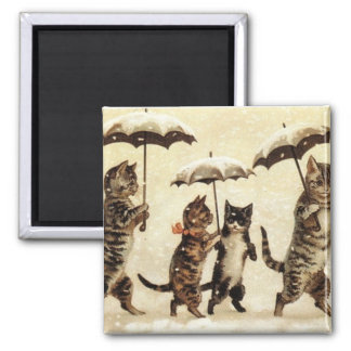 Cats parade square magnet