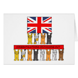 Cats Passing Out Congratulations Greeting Card