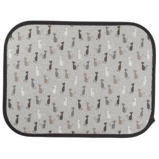 Cats pattern car mat
