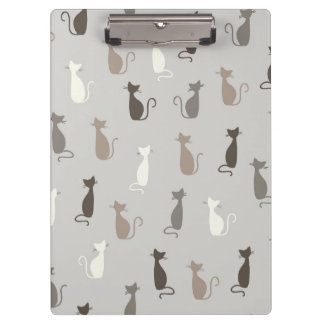 Cats pattern clipboards