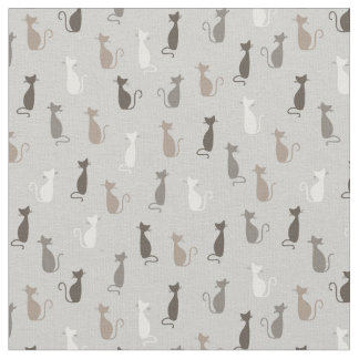 Cats pattern fabric