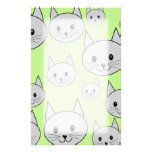 Cats Pattern in Green and Grey. Stationery