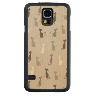 Cats pattern maple galaxy s5 slim case