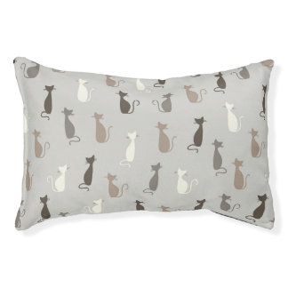 Cats pattern pet bed