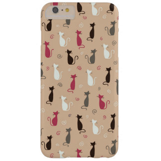 cats Pattern Pink Barely There iPhone 6 Plus Case