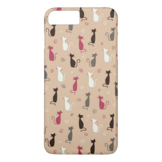 cats Pattern Pink iPhone 8 Plus/7 Plus Case