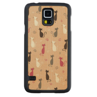 cats Pattern Pink Maple Galaxy S5 Slim Case