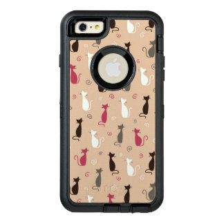 cats Pattern Pink OtterBox Defender iPhone Case