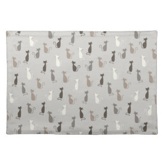 Cats pattern placemat