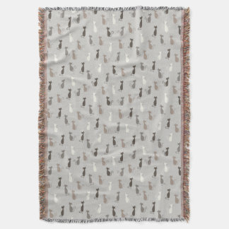 Cats pattern throw blanket