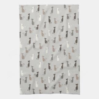 Cats pattern towel