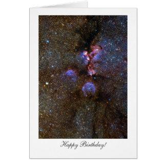 Cats Paw Nebula - Happy Birthday Greeting Card