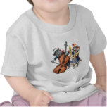 Cats Play the Cello and Cymbals in the Snow Tshirts