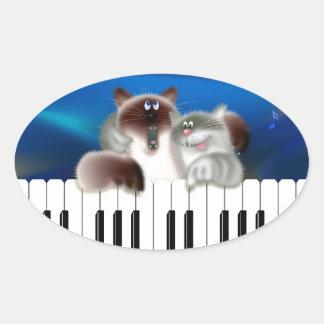Cats Playing Piano Sticker