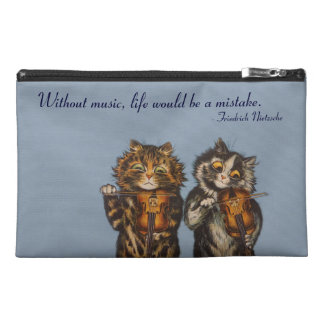 Cats Playing Violin by Louis Wain; Cute Cat Bag Travel Accessories Bags