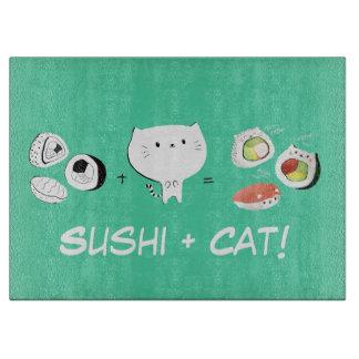 Cats plus Sushi equals Super Cuteness! Cutting Board