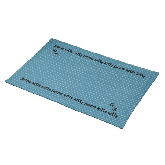 Cat's Polkadot Blue Placemat