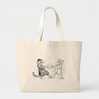 Cats Pulling Cracker Jumbo Tote Bag