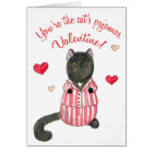 Cat's pyjamas valentine card