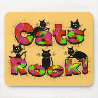Cats Rock--Cat lovers gifts Mouse Pad