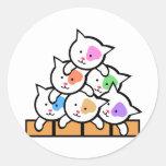 Cats Round Sticker