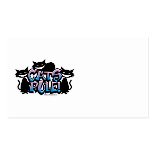 Cats Rule 2011 Business Card Template
