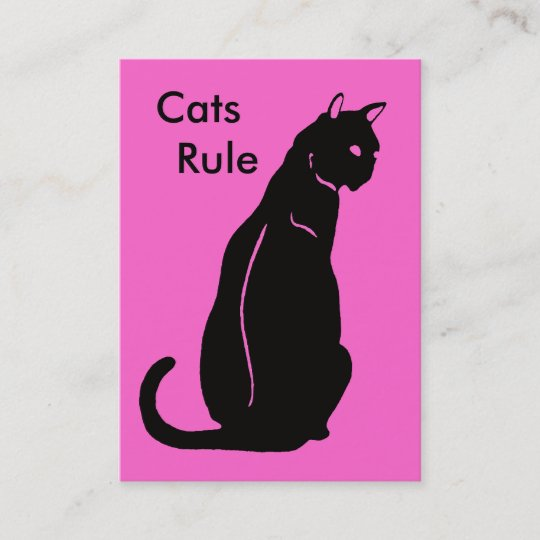 Cats Rule Business Card