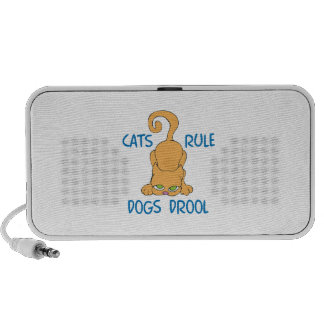 Cats Rule Dogs Drool Travel Speakers