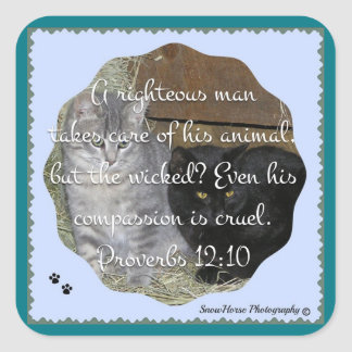 Cats Rule Scripture Stickers