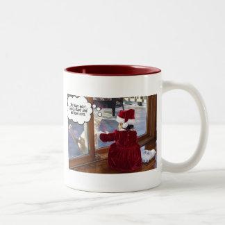 Cats' Santa Two-Tone Mug