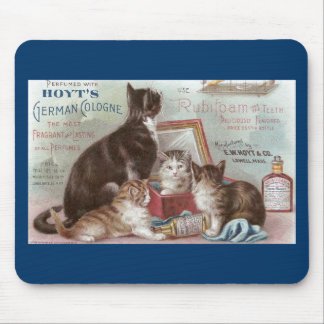 Cats Selling Cologne Victorian Trade Card Mousepads