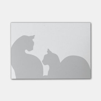 Cats Silhouette Post-it Notes