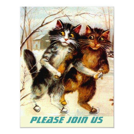 CATS SKATING PARTY INVITATION ~ EZ2 CUSTOMIZE