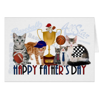 Cats Sport Themed Father's Day Card