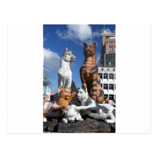 Cats statue in Kucing, Borneo Postcard