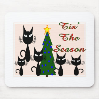 cats tis the season mouse pad
