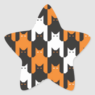 Cats Tooth Halloween Pattern Sticker