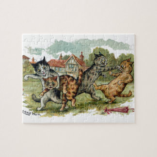 Cats Trade Punches Jigsaw Puzzles