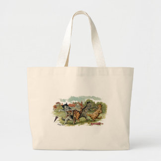 Cats Trade Punches Large Tote Bag