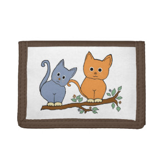 cats tri-fold wallets