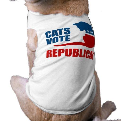 CATS VOTE REPUBLICAN DOG T-SHIRT