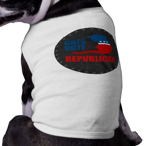 CATS VOTE REPUBLICAN DOG TEE SHIRT