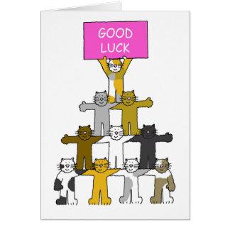 Cats wishing you 'Good Luck'. Greeting Card