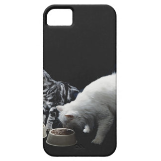 Cats with bowl of food iPhone 5 case