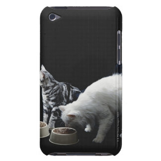 Cats with bowl of food iPod touch cases