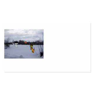 Cats With Hats Play Football In The Snow Pack Of Standard Business Cards