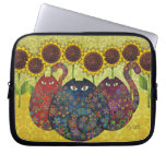 Cats With Sunflowers Laptop Sleeve