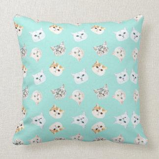 Cats World Throw Pillow