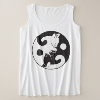 Cats Yin & Yang Plus Size Tank Top