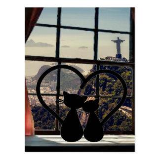 catsin love in Rio De Janeiro Postcard